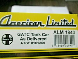 American Limited # 1840 Santa Fe GATC Tank Car As Delivered #101309 HO Scale image 4