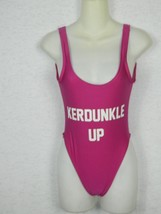 Private Party Bathing Suit One Piece Pink KERDUNKLE UP Swimwear - $24.99