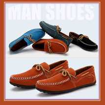 Classic Men's Suede Casual Moccasin Style Driving Shoes in 4 Colors
