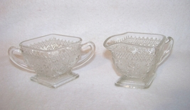 Indiana Glass Sandwich Clear Creamer and Sugar ... - $6.00