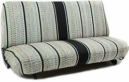 Saddle Blanket Bench Seat Cover Full Size Chevrolet Dodge Protector Truck Black - $49.97