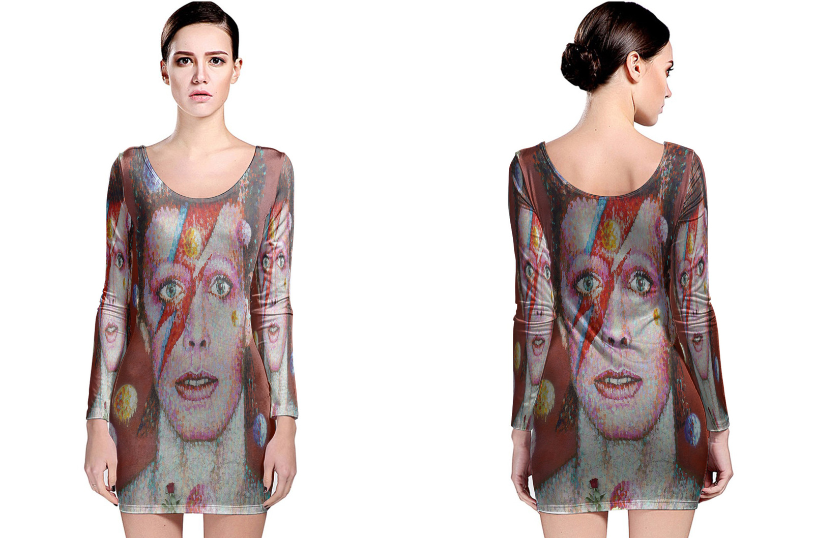 Primary image for David Bowie Memorial Long Slevee Bodycon Dress