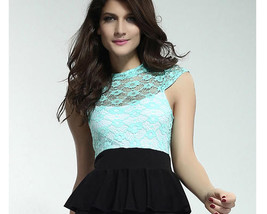 2792 Sweet/sexy lace blouse with keyhole back, Free size, fit to S/M/L, ... - $42.00