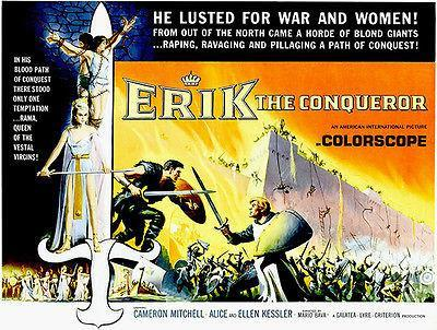 Primary image for Erik The Conqueror - 1961 - Movie Poster