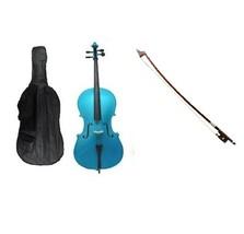 Crystalcello 1/10 Size Cello,Bag,Bow+Strings+Free Rosin ~ Blue - $179.99