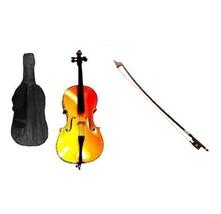 Crystalcello 1/10 Size Cello,Bag,Bow+Strings+Free Rosin ~ Gold - $179.99