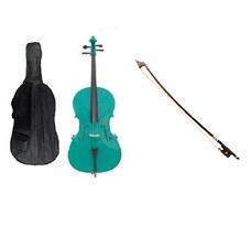 Crystalcello 1/16 Size Cello,Bag,Bow+Strings+Free Rosin ~ Green - $399.99