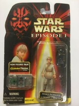 Star Wars Episode 1  Anakin Skywalker Tatooine Action Figure with CommTe... - $19.59