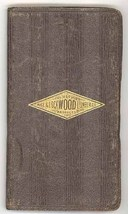 Rice Lockwood Lumber 1930 advertising notebook leather forestry vintage - $14.00