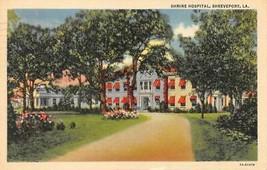 Shreveport, Louisiana La Shrine Hospital 1938 Curt Teich Linen Postcard - $5.84