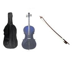 Crystalcello 1/10 Size Cello,Bag,Bow+Strings+Free Rosin ~ Purple - $179.99