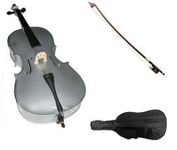 Crystalcello 1/2 Size Cello,Bag,Bow+Strings+Free Rosin ~ Silver - $179.99