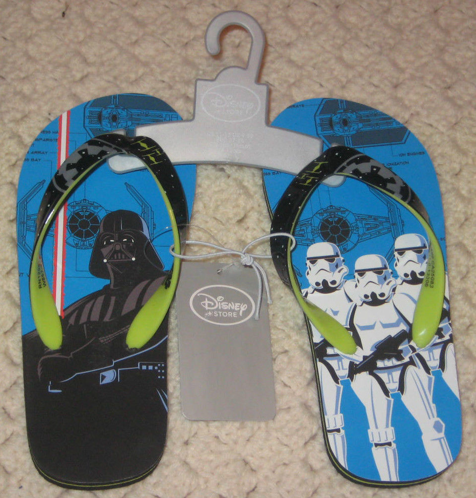 Primary image for Disney Store Star Wars Kids Flip Flops Size 2/3. Brand New.