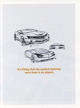 2010 Chevrolet Camaro ad sketch ad,  24 x 36 INCH POSTER,  sports car - $18.99