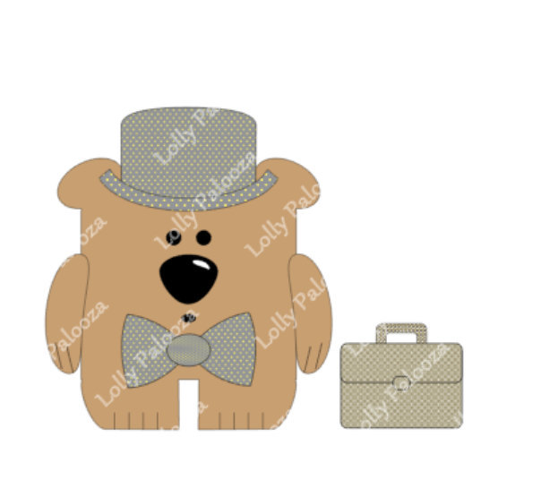 Percival Bear DIGITAL download: Instant download. No physical product will be sh