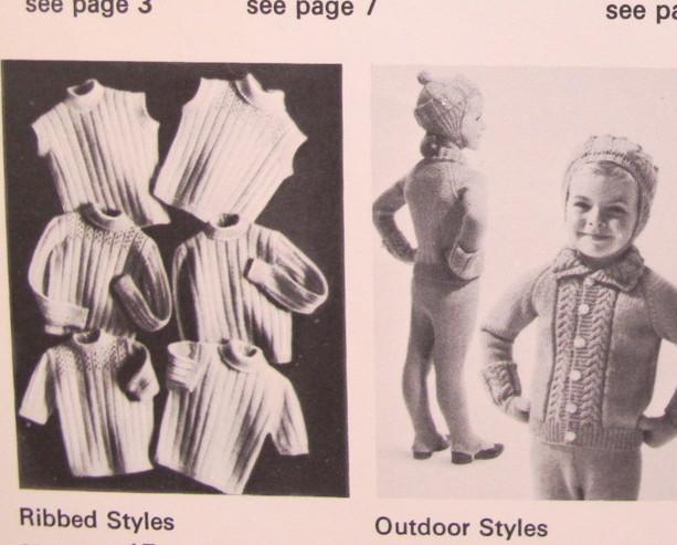 Vintage Patons Knitting Patterns Sweaters Leggings Cap Mitts CHILDREN 1 - 6