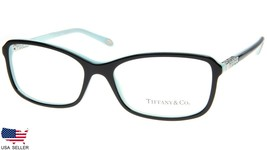 New Tiffany & Co Tf 2075 8055 Black /BLUE Eyeglasses Frame 55-16-140 B35mm Italy - $123.74
