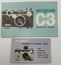 Argus C3 Instruction Manual Standard Model Camera Owners Book Guide Vint... - $12.30