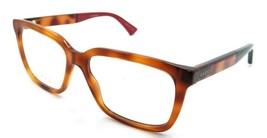 Gucci Eyeglasses Frames GG0160O 008 55-17-145 Havana Made in Italy - $215.60