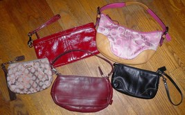 Lot of 5 Coach Leather Mini Bags Wristlets & Patent Leather Clutch w/ Lo... - $50.00