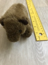 LIKE NEW Folkmanis Plush Grizzly Bear Finger Puppet  - $1.50