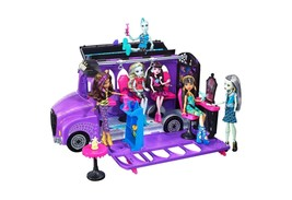 Monster High Deluxe Bus Transforms into a Mobile Salon 4 Areas of Play - $64.99