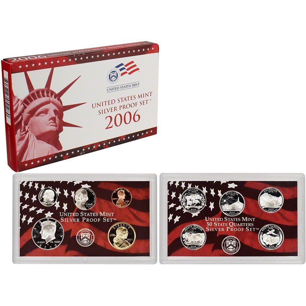 2006-S 90% Silver Proof Set United States Mint Original Government Packaging Box