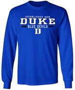 Duke Blue Devils Shirt Long Sleeve T-Shirt Merchandise Gifts Womens Mens... - $19.99