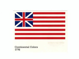 POSTCARD-FIRST DAY ISSUE-CONTINENTAL COLORS FLAG 1776-STARS & STRIPES SE... - $1.94