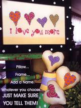 I Love You More cross stitch chart Amy Bruecken Designs - $7.20