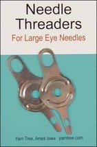 "Jiffy Metal Needle Threader 2/pkg - 1.75"" long cross stitch needle floss accesso - $3.00"