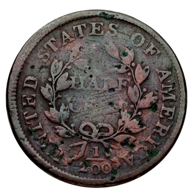 1803 Busto Drapeado Half Cent 1/2C ( Bueno, G Estado) Completa Fuerte Fecha ! image 3