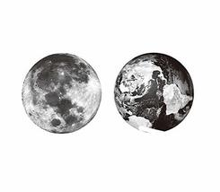 4 Sheets Earth and Moon Temporary Tattoo Stickers Body Art for Cosplay Costume P