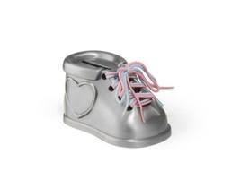 Zilverstad Tirelire Chaussures, Alliage de Zinc, Argent Mat, 5.6 x 9,3 x... - $49.00