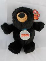 Fisher Price Buddies Black Bear Plush Jonathan August 20th Stuffed Animal - $10.03