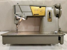 Vintage Singer 328K Heavy Duty Sewing Machine Style-O-Matic W/  Foot Pedal  - $210.33