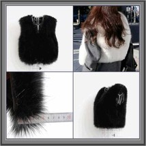 Six Color Dyed Long Hair Faux Fur Fashion Short Vests, FUN Wear w/ Everything! image 2