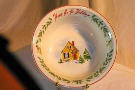 "Lenox Holiday Inspirations & Illustrations Small Round Serving Bowl 8"" NIB - $20.09"