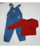 Winnie the Pooh Size 2T Denim Overalls and  Sonoma Red Shirt - $9.99