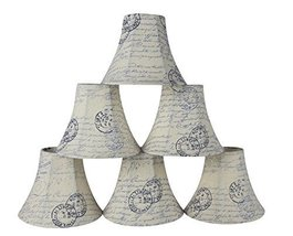 Urbanest Set of 6 Chandelier Lamp Shades, 3-inch by 6-inch by 5-inch, Bell, Vint - $35.15