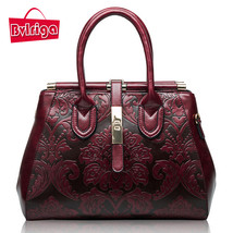 Genuine leather bag s retro handbag women messenger bags luxury handbags... - $158.92