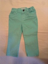 Childrens Place Size 12 months to 18 months pants green metallic Girls - $10.79