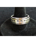 Spinning Sterling silver band with stars ring - $20.00