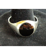 Onyx Sterling Silver Ring Size 13 - $15.00