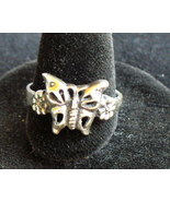 Butterfly sterling silver ring - $10.00