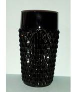 "Indiana Tiara Glass ""Black Cameo"" Ice Tea Tumblers - $10.49"