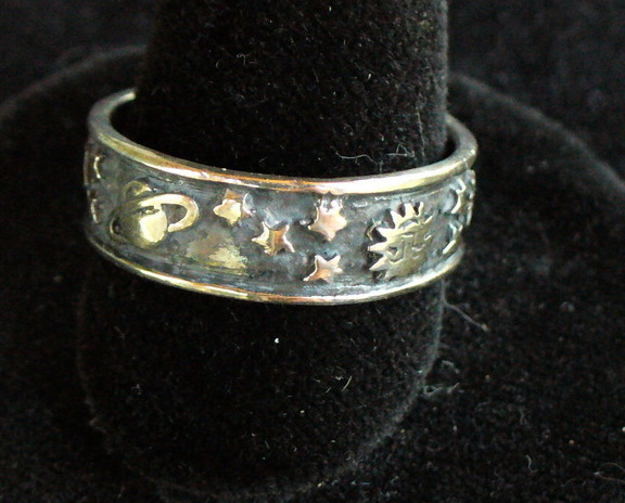 Sterling Silver Space Band Ring