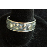 Sterling Silver Space Band Ring - $8.00