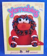 Vintage Crochet Me Yarnables Crochet Pattern Stuffed Toy Animal Roary - $9.95