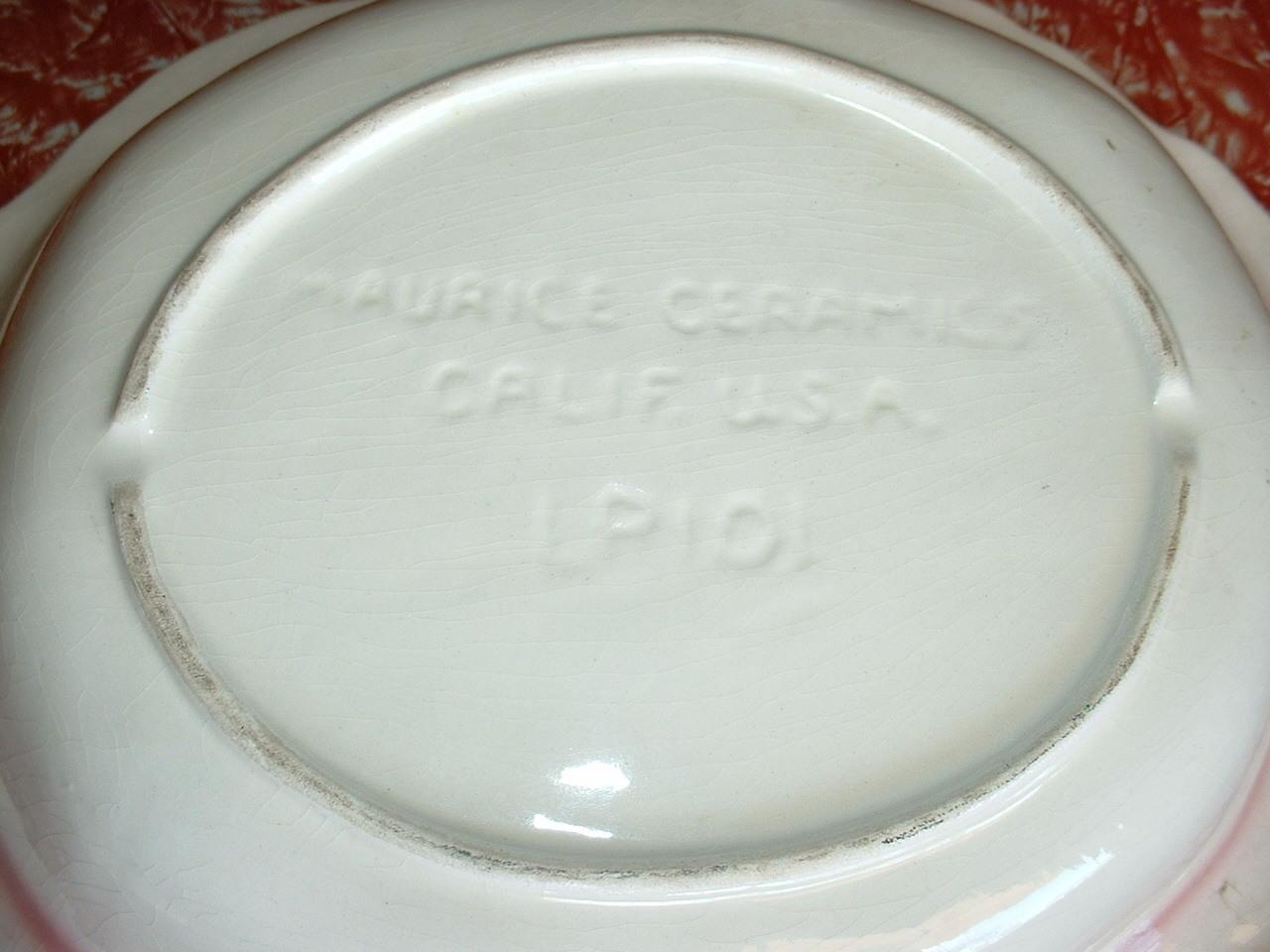 MAURICE CERAMICS of California  large serving dish; LP101
